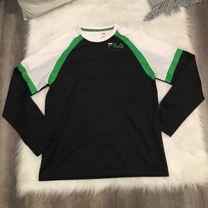 Fila Sport Green & White Logo Long Sleeve Shirt